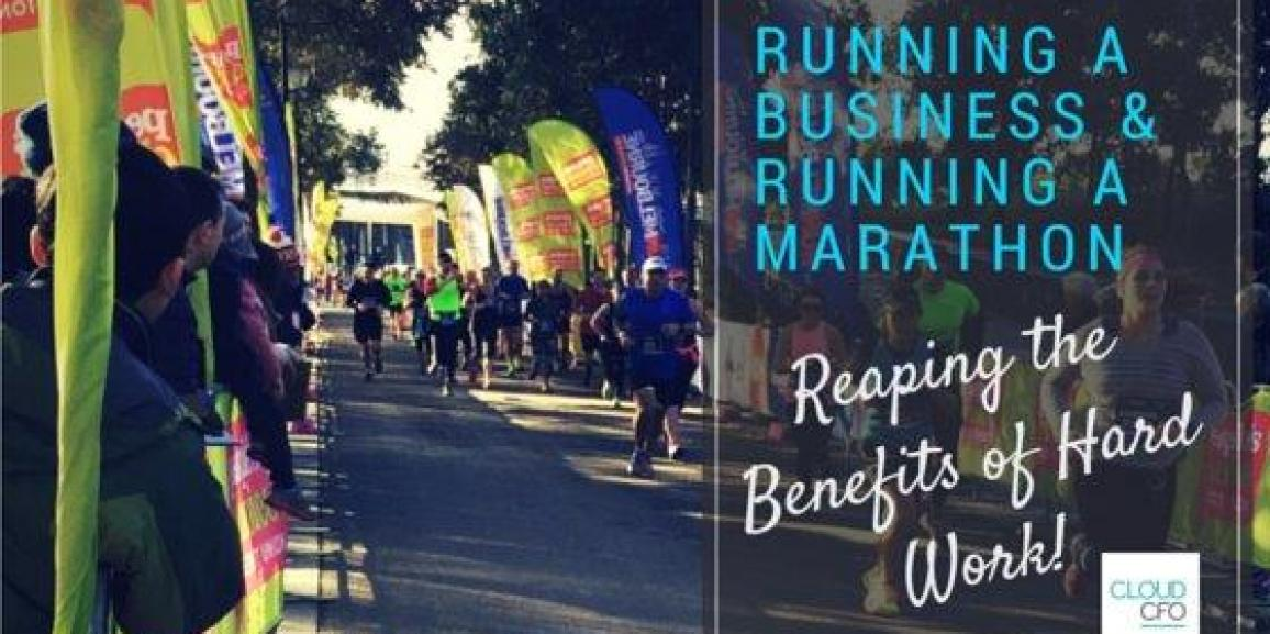 Running a business and Running a marathon – Reaping the benefits of hard work